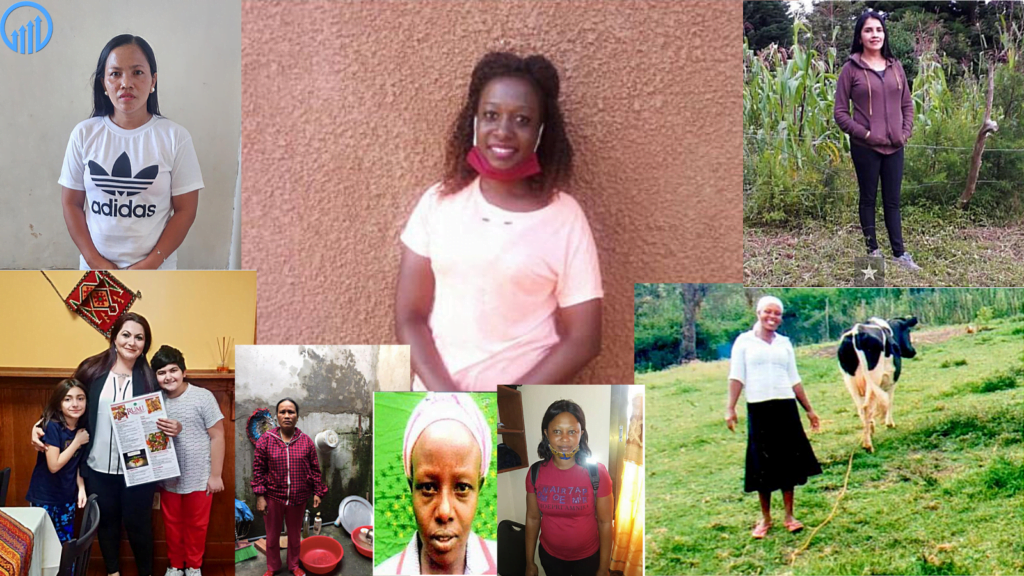 collage of Kiva loan recipients