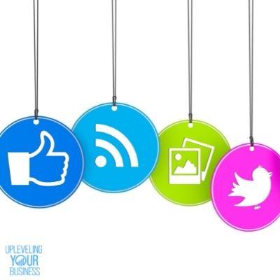 colorful social media tags